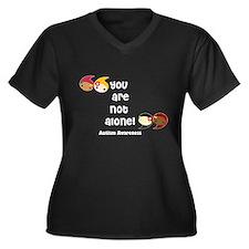 Autism Women's Plus Size V-Neck Dark T-Shirt