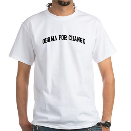 Obama for Change (sport-black White T-Shirt