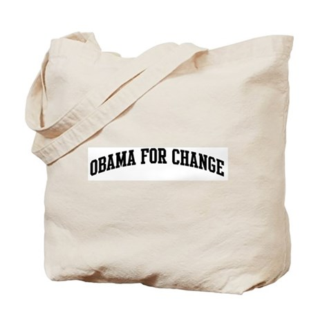 Obama for Change (sport-black Tote Bag