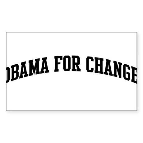 Obama for Change (sport-black Sticker (Rectangular