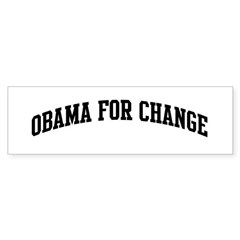Obama for Change (sport-black Bumper Sticker