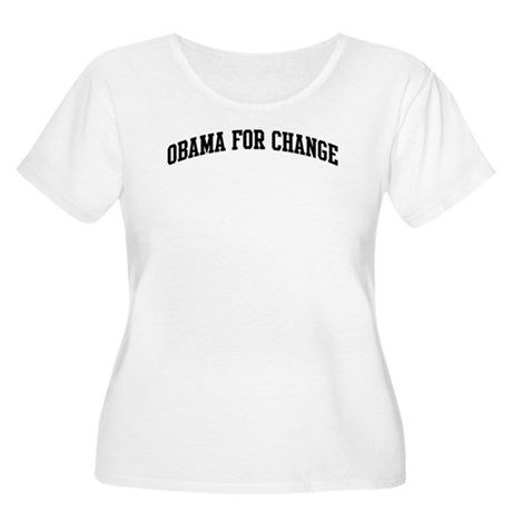 Obama for Change (sport-black Women's Plus Size Sc