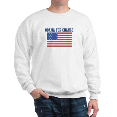 Obama for Change (American-Fl Sweatshirt