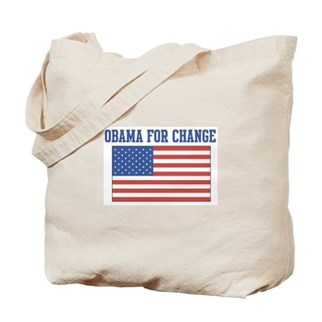 Obama for Change (American-Fl Tote Bag