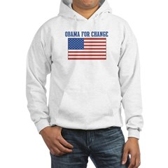 Obama for Change (American-Fl Hooded Sweatshirt
