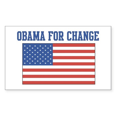 Obama for Change (American-Fl Sticker (Rectangular