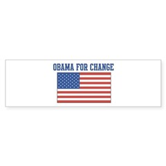 Obama for Change (American-Fl Bumper Sticker