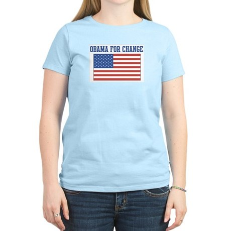 Obama for Change (American-Fl Women's Light T-Shir