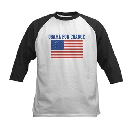Obama for Change (American-Fl Kids Baseball Jersey