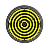 Black/Yellow Bullseye Wall Clock