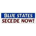 Blue States Secede Now Bumper Sticker