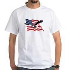 Bald Eagle and US Flag v2 Shirt