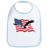 Bald Eagle and US Flag v2 Bib