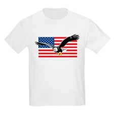 Bald Eagle and US Flag T-Shirt