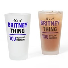 Cute Britney Drinking Glass
