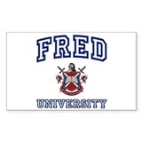FRED University Rectangle Decal