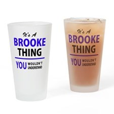 Cute Brooke Drinking Glass