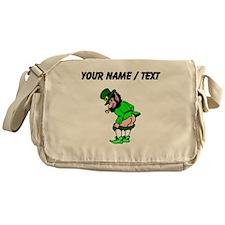 Custom Leprechaun Mooning Messenger Bag