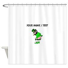 Custom Leprechaun Mooning Shower Curtain