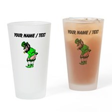 Custom Leprechaun Mooning Drinking Glass