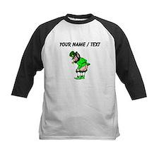 Custom Leprechaun Mooning Baseball Jersey