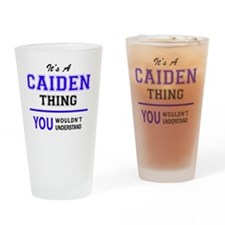 Cute Caiden Drinking Glass