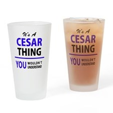 Cute Cesar Drinking Glass