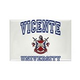 VICENTE University Rectangle Magnet (100 pack)