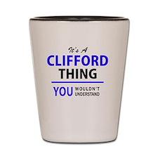 Unique Cliffords Shot Glass