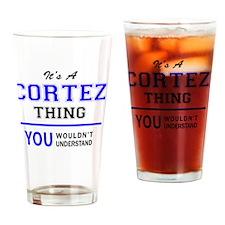 Cute Cortez Drinking Glass