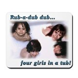 4 Girls In A Tub Mousepad