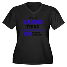 Cute Danno Women's Plus Size V-Neck Dark T-Shirt