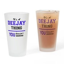 Funny Deejay Drinking Glass