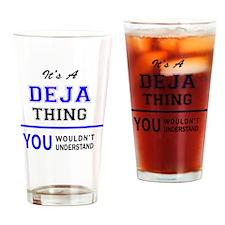 Cute Deja Drinking Glass