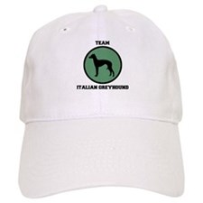 Team Italian Greyhound (green Baseball Cap