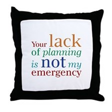 Planning Throw Pillow