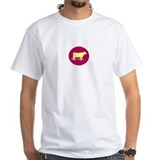"Silhouette ""It's no bull"" T-Shirt (white/pink)"