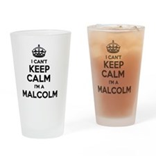 Funny Malcolm Drinking Glass