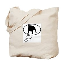 Thinking of English Bulldog Tote Bag