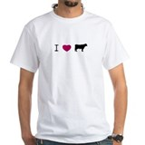 &quot;I love c.o.w.&quot; T-Shirt (white)