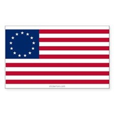 U.S. 13-star Flag Rectangle Decal