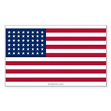 U.S. 48-star Flag Rectangle Decal