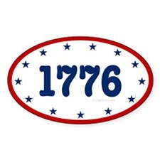 1776 Oval Decal