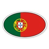 Portuguese Decals Oval Decal