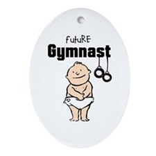 Future Gymnast Rings Ceramic Ornament