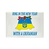 Ukranian New Years Rectangle Magnet