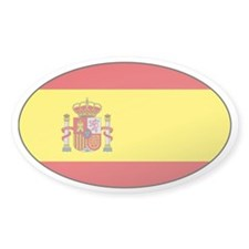 Spanish flag Oval Decal