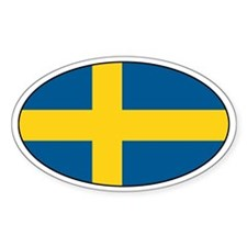 Swedish flag Oval Decal