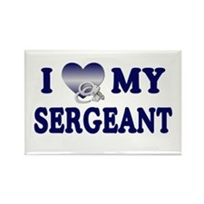 Love My Sergeant Rectangle Magnet
