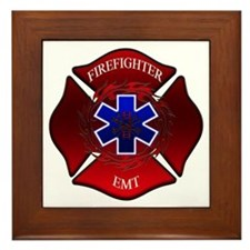 FIREFIGHTER-EMT Framed Tile